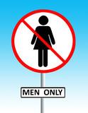 men only sign poster