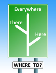 where to roadsign