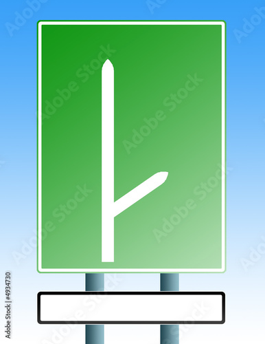 blank roadsign with blank exit 01