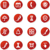 red sticker software icons poster