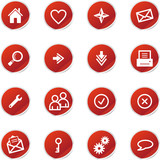 red sticker web icons poster