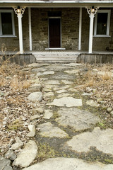 Stone Walk Way to a Stone House