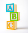 Wooden alphabet blocks - 4936912