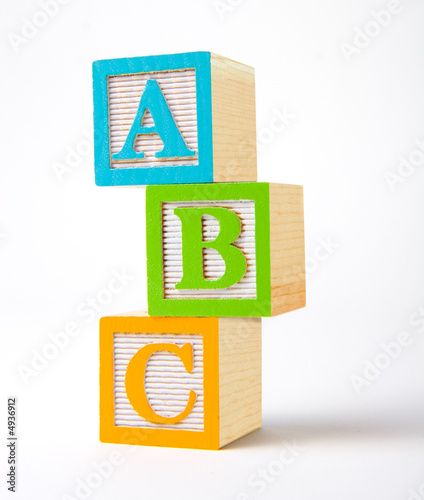 Leinwanddruck Bild Wooden alphabet blocks