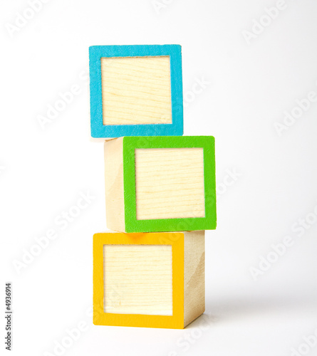 Blank wooden blocks