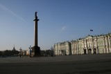 Schlossplatz Alexandersäule Winterpalast St. Petersburg Russland poster