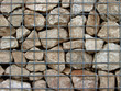 Stone gabian wall background