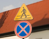 Traffic sign. poster