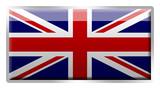 British Union Jack enamelled metal badge poster