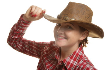 Portrait of a girl Cowboy