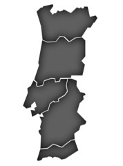 Carte Portugal Noir