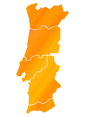 Carte Portugal Orange