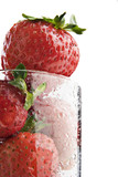 Drink in the nutrition, Strawberries in a glass poster