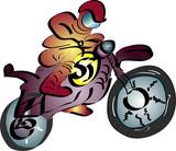 Fototapety a0013 - Motocross
