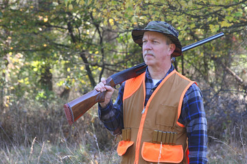 Man Hunting With Shotgun