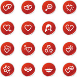 red sticker love icons poster