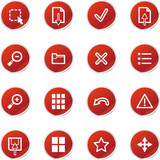red sticker viewer icons poster