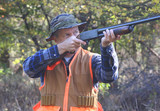 Hunter Shooting in Field poster