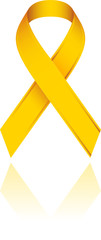 Ruban jaune vectoriel