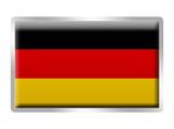 German flag enamelled metal badge poster