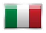 Italian flag metal enamelled badge poster