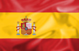 Silk effect Spanish flag poster