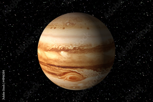 3d render of jupiter - 4946384