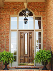 Front Entrance in Brick