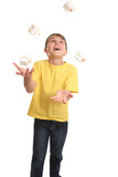 Juggling birthday or Christmas presents poster