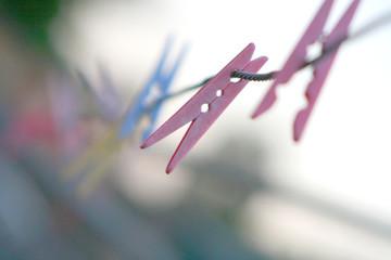Pastel pegs (pink focus)..