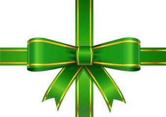 Ruban vert paquet cadeau