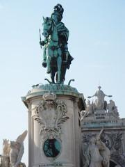 Statue at Praca do Comercio