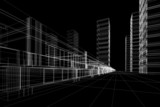 wireframe of office buildings