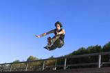 Fototapeta równowaga - czarny - Bieg / Skok