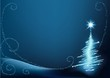 Blue Christmas Tree - christmas background