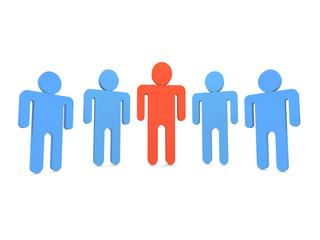 Five people in team