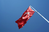 National flag of Turkey poster