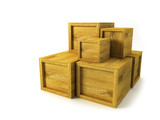 several wooden crates poster