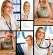 Set of pictures illustrating healthcare and medicine