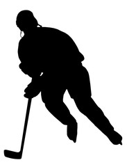 Hockey Player Silhouette 03
