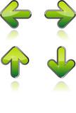 Flèches vectorielles, facilement modifiable poster