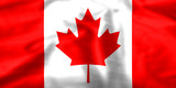 Silk effect Maple Leaf Canadian flag poster