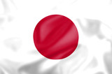 Silk effect flag of Japan poster