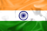 Rippled effect Indian Flag poster