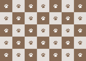 chocolate paw print pattern