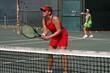 tennis doubles, focus on net