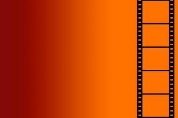 Hintergrund, Filmstreifen (rot-orange)
