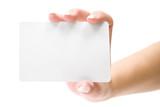 Fototapety Presenting a Blank Card