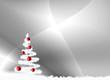 fond argent et sapin de Noël