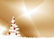 fond or et sapin de Noël